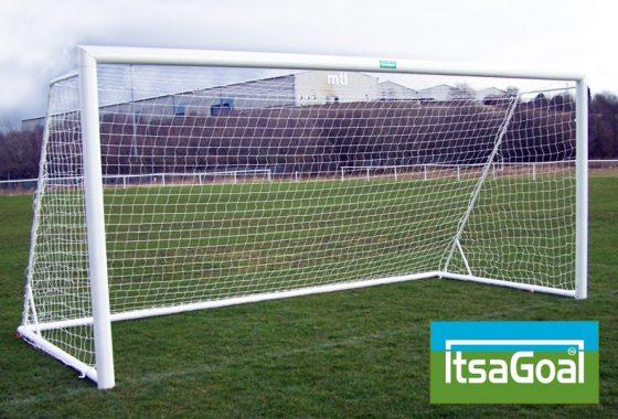 Folding Garden Goal 16×7 Elliptical Aluminium Goalposts