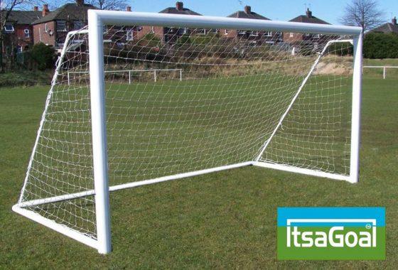 Folding Garden Goal 8×6 Elliptical Aluminium Goalpost