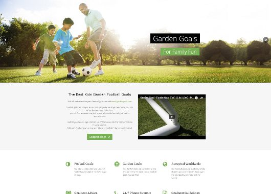Football Garden Goals Website Launched