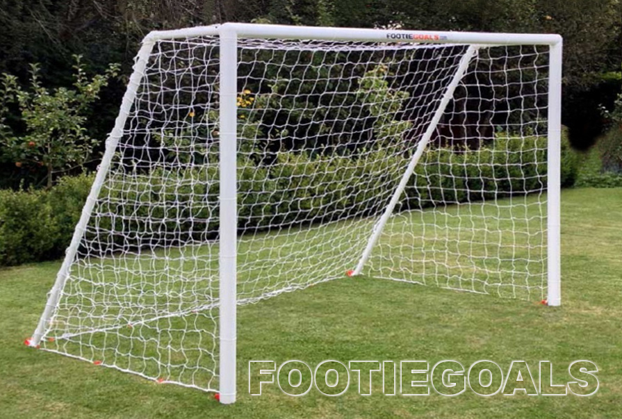 Garden football goals 8x6 Garden Goals Grass Surface Goalposts