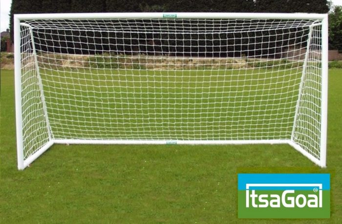 Folding Garden Goals 12x6 Lightweight & Lockable With Ground Back Frame Included - Mini Soccer Goals Ideal Garden Goals