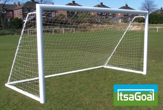 Folding Garden Goal 8×6 Elliptical Aluminium Goalpost